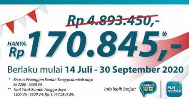 "Tembus 367 Ribu Pendaftar Program Diskon Tambah Daya ""Super Wow"""