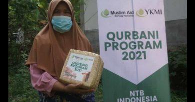 Muslim AID Gandeng YKMI Salurkan Hewan Qurban di Lombok